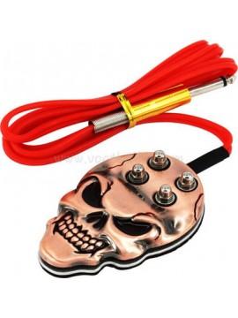 inossidabile acciaio cranio interruttore a pedale Marrone