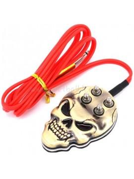 inossidabile acciaio cranio interruttore a pedale Oro