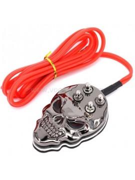 inossidabile acciaio cranio interruttore a pedale Grigio