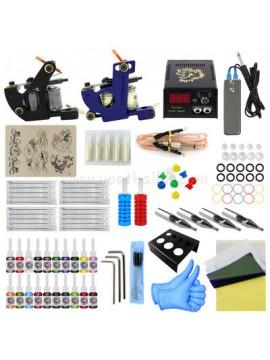kit tatuaggi uno Nero e uno Blu macchina 20 Colores