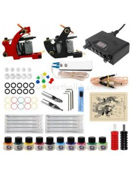kit tatuaggi uno Nero e uno Rosso macchina 10 Colores