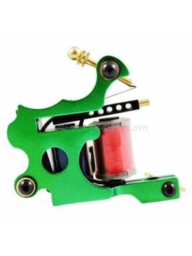 macchinetta per tatuaggi N102 10 strato di bobina Colore shader di ferro Verde