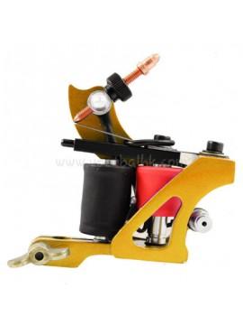 macchinetta per tatuaggi N102 10 strato di bobina Colore shader di ferro Giallo