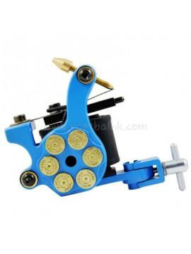 macchinetta per tatuaggi N105 10 strato di bobina shader di ferro Bullet Blu