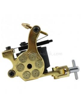 macchinetta per tatuaggi N105 10 strato di bobina shader di ferro Bullet Oro