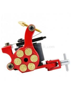macchinetta per tatuaggi N105 10 strato di bobina shader di ferro Bullet Rosso