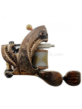 Tattoo macchina N109 10 strato di bobina Damasco rivestimento in acciaio Luminosa Giallo