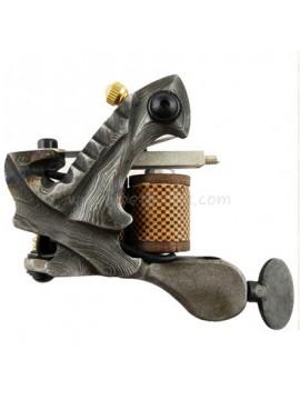 Tattoo macchina N109 10 strato di bobina Damasco rivestimento in acciaio Grigio