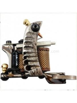 Tattoo macchina N109 10 strato di bobina Damasco rivestimento in acciaio Modello