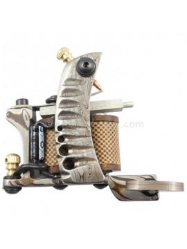 Tattoo macchina N109 10 strato di bobina Damasco rivestimento in acciaio Argento