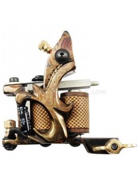 Tattoo macchina N109 10 strato di bobina Damasco rivestimento in acciaio Giallo