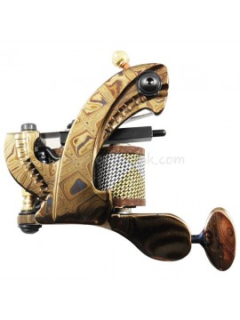 Tattoo macchina N109 10 strato di bobina Damasco Shader d'acciaio Luminosa Giallo