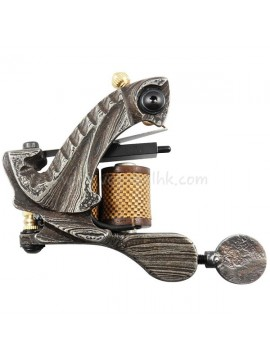 Tattoo macchina N109 10 strato di bobina Damasco Shader d'acciaio Grigio
