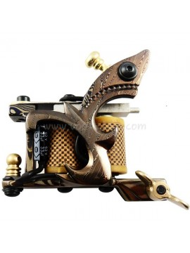 Tattoo macchina N109 10 strato di bobina Damasco Shader d'acciaio Giallo