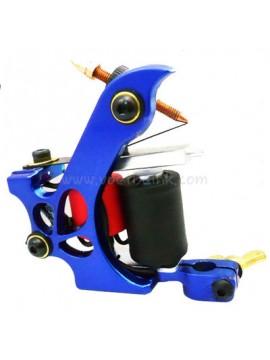 macchinetta per tatuaggi N110 10 strato di bobina Colore shader in alluminio Far cadere Blu