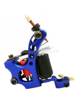 macchinetta per tatuaggi N110 10 strato di bobina Colore shader in alluminio Buco Blu