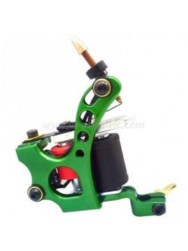 macchinetta per tatuaggi N110 10 strato di bobina Colore shader in alluminio Buco Verde