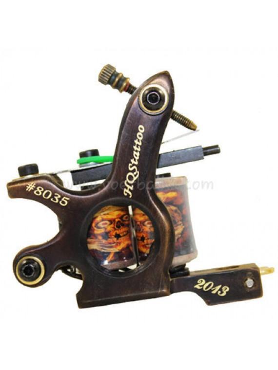 macchinetta tattoo N130 10 strato di bobina shader di bronzo numero 8035