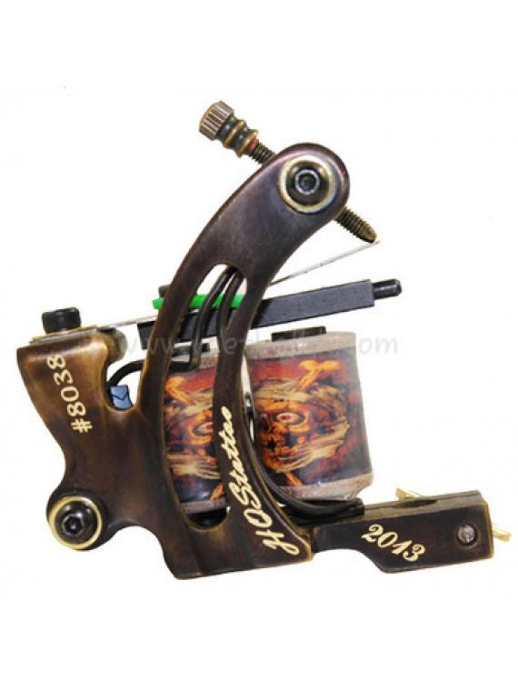 macchinetta tattoo N130 10 strato di bobina shader di bronzo numero 8038