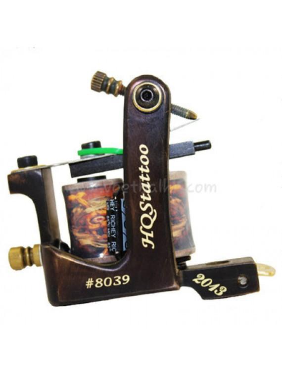 macchinetta tattoo N130 10 strato di bobina shader di bronzo numero 8039